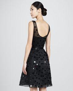 Polka-Dot Party Dress - Neiman Marcus