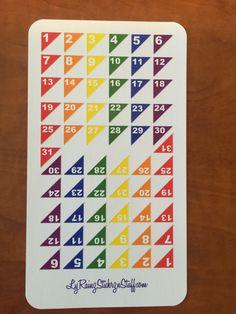 62 (2Months) Rainbow Date Corner Stickers for the UNDATED Passion Planner, Erin Condren...etc by LyRainzStickrzNStuff on Etsy