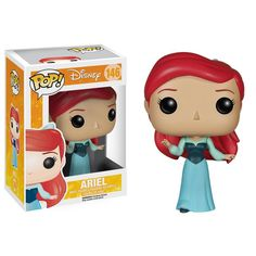 This is a Disney Little Mermaid Ariel POP Vinyl Figure that is produced by Funko. This version of Ariel features her in her blue dress. Fans of both Disney's Little Mermaid and Funko POP Vinyl's are s