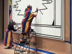 Esther Mahlangu Creates Murals For Virginia MFA - Burnaway African House, South African Artists, African Design, Aboriginal Art, Global Art, Loom Patterns, Museum Of Fine Arts, Virginia, Art Gallery