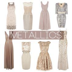 Metallic Bridesmaid Dresses on Bride Bubble - Wedding & Style Blog.