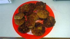 """Fried Green Tomatoes - """"Very easy recipe. I substituted the bread crumbs with crushed Ritz crackers."""" @allthecooks #recipe"""