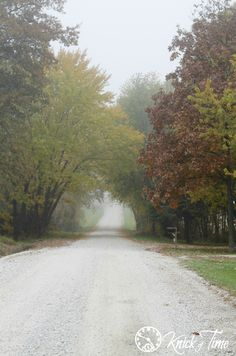 Autumn Morning on a Farm Country Road via KnickofTime.net