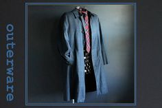 Vintage Trench Coat by Koratron Blue and Black Tartan Plaid