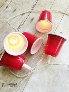 DIY Red Solo Cup Party Lights