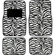 Plasticolor Zebra Wild Skins Floor Mat Set, 4pc for Taylor?