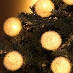 10 Light White Flocked Ball Light SetItem #UL1248White ball flocked...