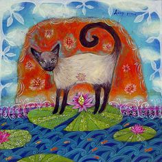Karen Hoepting    Cheryl Ponce via Joanne Eather onto Cats in Art, Photography and what not