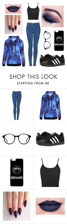 """""""Untitled #1"""" by xxthenny ❤ liked on Polyvore featuring Topshop, adidas and Jeffree Star"""