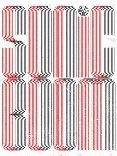 Typography :: Sonic Boom - by Richard Perez