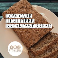 It's a low carb keto-friendly breakfast option that is also high in fiber. This delicious recipe for Low Carb High Fiber Breakfast Bread will give you the added fiber you need while doing a keto diet. Are you looking for a low carb keto breakfast. High Fiber Low Carb, High Fiber Foods, High Protein Low Carb, Low Carb Keto, Low Carb Recipes, Bread Recipes, High Fiber Recipes, High Fiber Diet Plan, Fiber Snacks