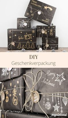 Pack stylishly: Christmas gifts with a DIY look - Childrens eyes cannot lie: beautifully wrapped presents are a little highlight at Christmas. Diy Birthday Gifts For Sister, Sister Gifts, Small Business Cards, Diy Gifts, Handmade Gifts, Handmade Headbands, Handmade Rugs, Simple Gifts, Diy Christmas Gifts