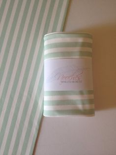 Mint Striped Organic Swaddling Blanket by Nooches on Etsy, $35.00