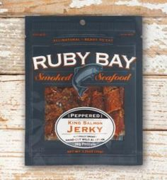 Peppered salmon jerky, great for snacking King Salmon, Smoked Salmon, Stuffed Peppers, Snacks, Appetizers, Stuffed Pepper, Stuffed Sweet Peppers, Treats, Finger Food