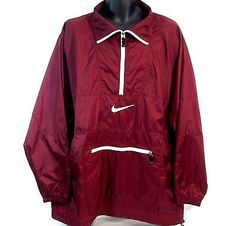Vintage Nike Air Maroon Pullover Windbreaker Jacket by yungcairo