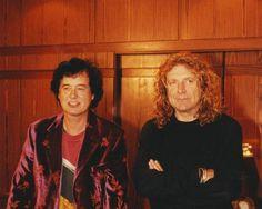 Robert Plant and Jimmy Page, 1998.Photo © Tomáš Martinek.