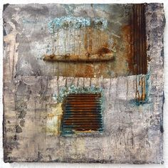 Ellen Ribbe: verdrahtet - wired Mixed media on canvas,