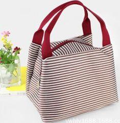 a950689c1 Venta al por mayor rayas oxford grueso bolsa de almuerzo bolsa lonchera del almuerzo  bolsa para