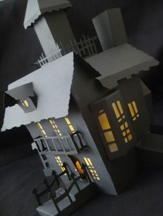 DIY Haunted Housea SPOOKTACULAR Creation made entirely of paper