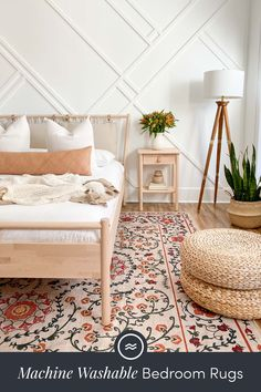 Refresh your bedroom for the season with one of our spring rugs. From pretty florals to striking geometric designs in soft pastels and vibrant tones, we've got a wide variety of spring-themed rugs to freshen up your space. Room Ideas Bedroom, Home Decor Bedroom, Bedroom Inspo, Master Bedroom, Aesthetic Bedroom, My New Room, Home Decor Inspiration, Decoration, Ikea