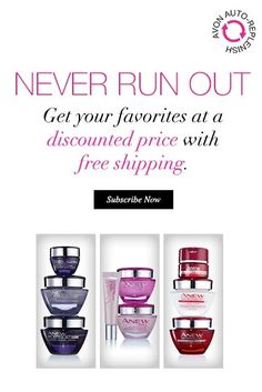 Introducing Avon Auto-Replenish for your favorite skincare! Never, ever run out of your must-have products again! Sign up online today.  #AvonRep www.youravon.com/lezstep