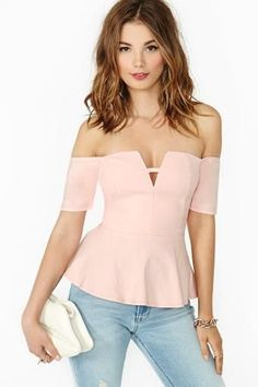 Angeline Peplum Top - Blush in Clothes Tops at Nasty Gal Look Fashion, Womens Fashion, Fashion Tips, Fashion Trends, Casual Outfits, Cute Outfits, Summer Dress, Do It Yourself Fashion, Outfit Trends