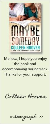 """Authorgraph from Colleen Hoover for """"Maybe Someday"""""""