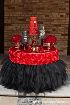 A vibrant cake table with gold accessories and creative cake designed by The Caketress kept the Spanish inspiration alive. Description from decorwithgrandeurinc.blogspot.com. I searched for this on bing.com/images