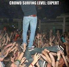 Expert ;) #crowdsurfing #love #live #music