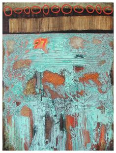 "Jill Ricci, ""Favorite Number"", mixed media on canvas"