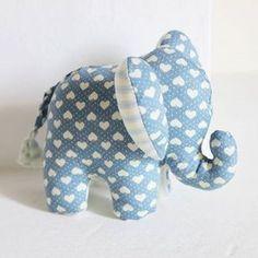 Sewing Baby DIY - elephant stuffed animal soft toy pattern stuffed ears are cute