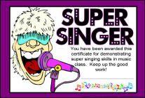 Super Singer Certificate