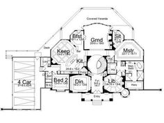 home floorplan, bedrooms on same side | ... check it out floor plans home plan 106 1146 floor plan first story
