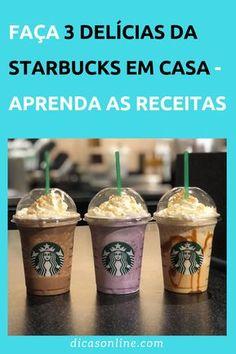 Café Starbucks, Bebidas Do Starbucks, Starbucks Frappuccino, Starbucks Recipes, Coffee Recipes, Coffee Cafe, Detox Recipes, Copycat Recipes, Food Truck