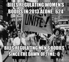 Anyone who thinks the war on women is imaginary really needs to start paying attention. Thanks to Americans Against The Republican Party for sharing this with us.