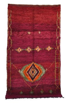 "Vintage Talsint Moroccan Rug, 6'3"" x 11'6"""