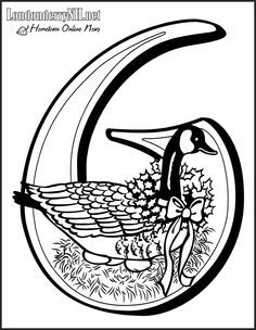 Six Geese A Laying Coloring Page