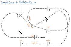 Sample Hunter Jumper Course   FlyOnOverEq.com