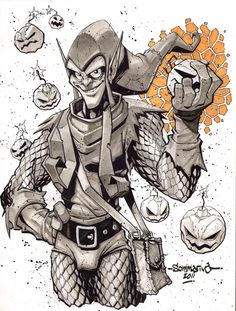 Green Goblin :: Sketch 04 by *Red-J on deviantART | Jon Sommariva