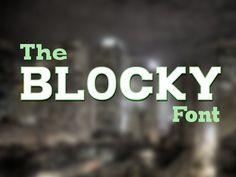 The Blocky Font by Lonely Pixel Co. on @creativemarket