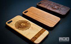 Holz lasergravieren - Apple iPhonehülle