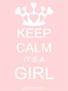 keep calm its a girl free printable