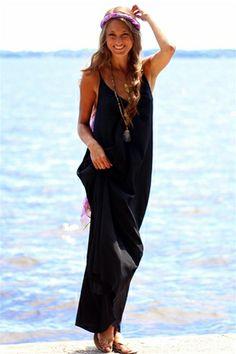 Black Resort Maxi Dress from Pink Stitch at Rosie True