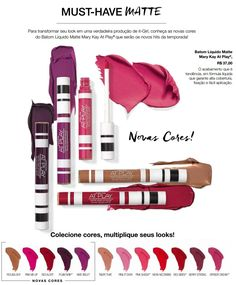 Batom líquido matte Mary Kay at play - novas cores