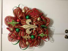 Fluer De Lis Christmas Wreath