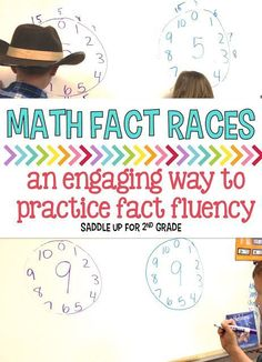 Do the kids in your class get burnt out on practicing math facts? I have a way to solve that. Math Fact Races are a HUGE hit in my classroom and the kids really enjoy playing it. ~Healthy competition helps in fluency! Fourth Grade Math, Second Grade Math, Grade 2, Math Tutor, Teaching Math, Teaching Ideas, Math Education, Teaching Materials, Special Education
