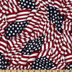 Patriotic Flags Red/White/Blue from Designed for VIP by Cranston, this cotton print fabric is perfect for quilting, apparel and home décor accents. Colors include red, white and navy. Baseball Fabric, Baseball Quilt, Fabric Corkboard, Bandana Styles, July Baby, Fabric Bunting, Blue Fabric, Red White Blue, Printing On Fabric