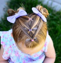 Girls hairstyles easy 96 Wonderful Adorable Kleinkind Mädchen Frisuren Why are Peop Easy Toddler Hairstyles, Easy Little Girl Hairstyles, Cute Simple Hairstyles, Pigtail Hairstyles, Baby Girl Hairstyles, Easy Hairstyles, Teenage Hairstyles, Toddler Hair Dos, Hairdos
