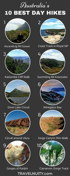 10 Best Day Hikes in Australia One of the best ways to explore Australia is to go hiking. Here are 10 of the best day hikes in Australia, from the coast to the desert. Brisbane, Melbourne, Sydney, Places To Travel, Oh The Places You'll Go, Travel Destinations, Vacation Travel, Beach Travel, Great Barrier Reef