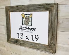 Barn Wood [Chunky x Picture Frame by LunarCanyon 3 Picture Frame, Barn Wood Picture Frames, Change Picture, Picture On Wood, Rustic Frames, Thing 1, Weathered Wood, Clear Acrylic, Wood Boards